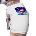 Camisa del perro de Jinglz™ Jingle Bell Santa Ropa De Mascota