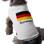 Camisa del perro de la bandera de Alemania Camisetas Mascota