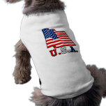 Camisa del perro de la bandera de los E.E.U.U. Camiseta De Perro