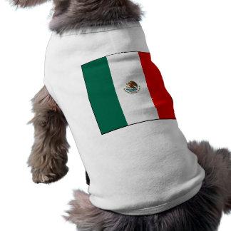 Camisa del perro de la bandera mexicana camisa de perro