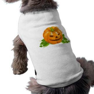 Camisa del perro de la calabaza de Halloween Playera Sin Mangas Para Perro