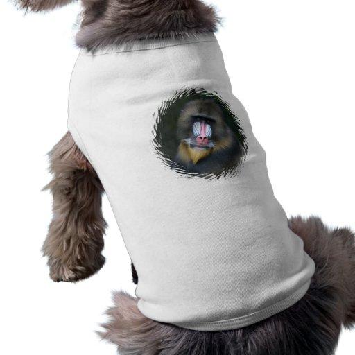 Camisa del perro de la cara del babuino ropa de mascota