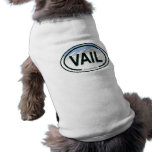 Camisa del perro de la etiqueta de la montaña de V Playera Sin Mangas Para Perro