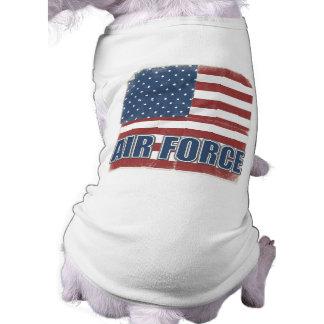 Camisa del perro de la fuerza aérea camisa de perro