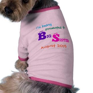 Camisa del perro de la hermana grande camisetas de mascota