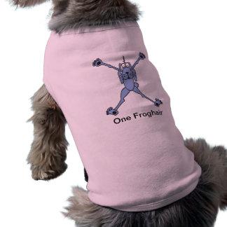 Camisa del perro de la lila con el carácter del co camisetas de perro