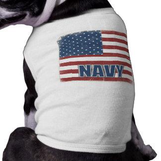 Camisa del perro de la marina de guerra playera sin mangas para perro
