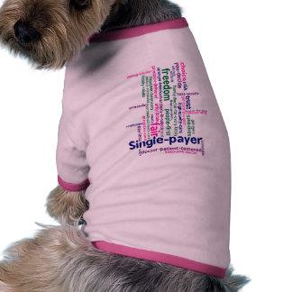 Camisa del perro de la nube de la palabra camiseta con mangas para perro