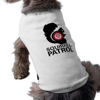 Camisa del perro de la patrulla de la ardilla camisa de mascota