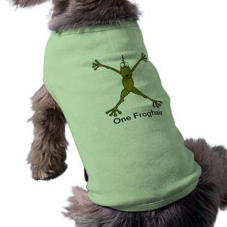 Camisa del perro de la rana playera sin mangas para perro