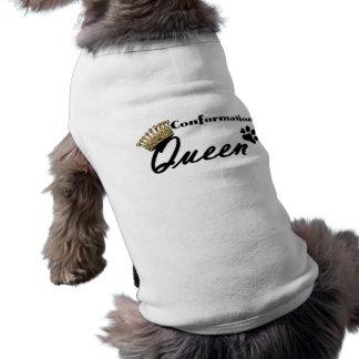 Camisa del perro de la verde lima de la reina de l camisetas de perrito
