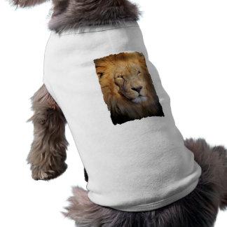 Camisa del perro de las imágenes del león camisetas de perrito