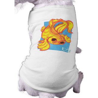 Camisa del perro de los pescados de Koi Playera Sin Mangas Para Perro