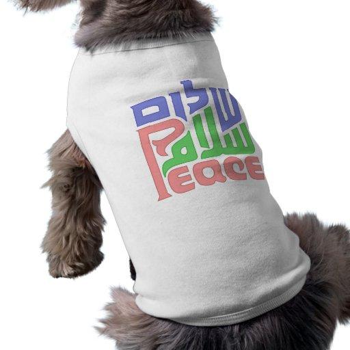 Camisa del perro de Peace_Shalom_Salaam Camisetas De Mascota