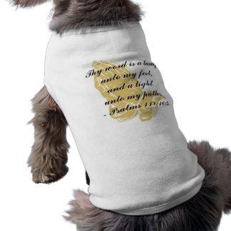 Camisa del perro del 119:105 de los salmos playera sin mangas para perro