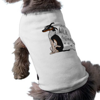 """""""Camisa del perro del animal salvaje de la"""" Playera Sin Mangas Para Perro"""