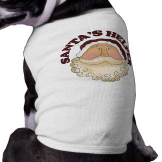 Camisa del perro del ayudante de Santa Camisetas Mascota