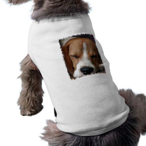 Camisa del perro del beagle el dormir camisetas de perrito
