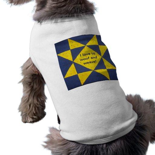 Camisa del perro del bloque del edredón camisa de perrito