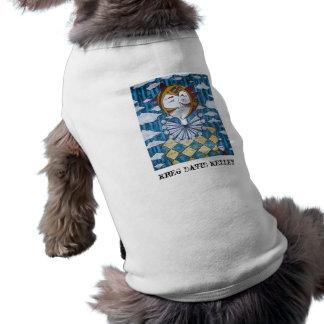 """Camisa del perro """"del bufón"""" playera sin mangas para perro"""