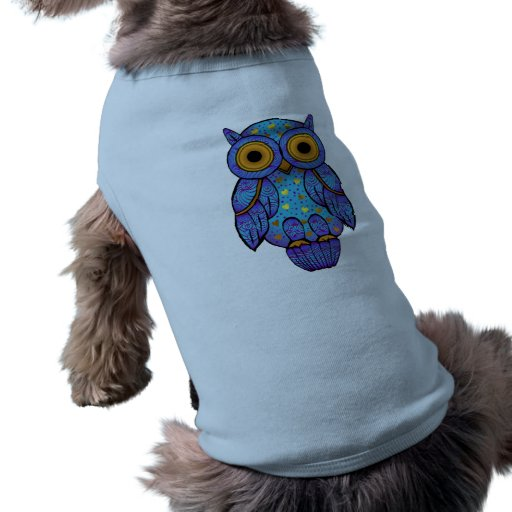 Camisa del perro del búho de H00t Playera Sin Mangas Para Perro
