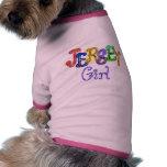 Camisa del perro del chica del jersey camisa de perro