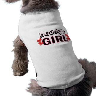 Camisa del perro del chica del papá ropa de perro