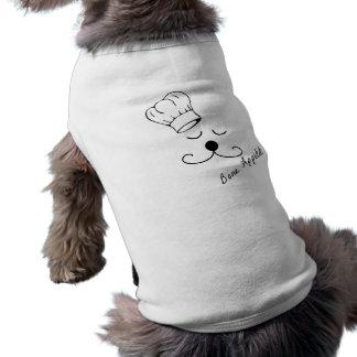 Camisa del perro del cocinero del perrito playera sin mangas para perro