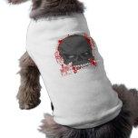 Camisa del perro del cráneo de la sangre camiseta de mascota