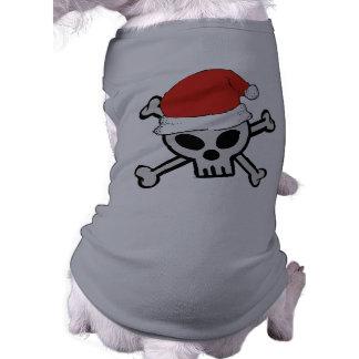 Camisa del perro del cráneo de Santa Ropa Para Mascota