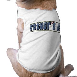 Camisa del perro del día de padre playera sin mangas para perro