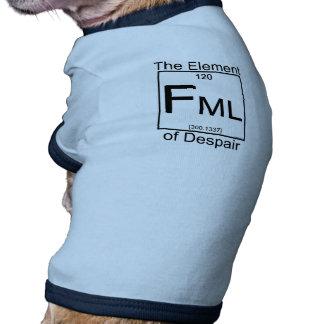 Camisa del perro del elemento FML Ropa Macota