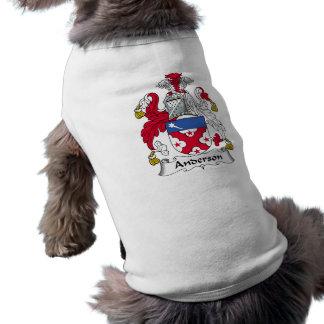 Camisa del perro del escudo de la familia de Ander Camiseta De Perrito