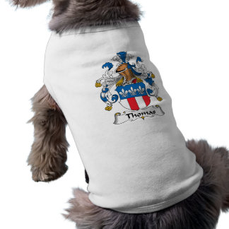 Camisa del perro del escudo de la familia de Thoma Camisa De Perrito