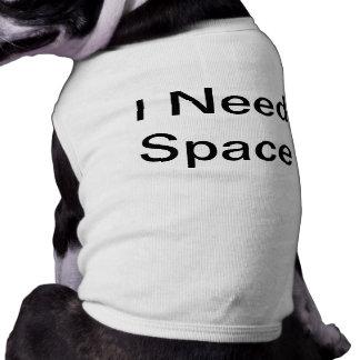 Camisa del perro del espacio playera sin mangas para perro