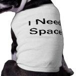 Camisa del perro del espacio ropa de perros