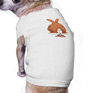 Camisa del perro del extremo del conejito camiseta de mascota