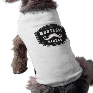 Camisa del perro del jinete del bigote camisetas de perro