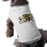 Camisa del perro del lagarto del oro ropa de perro