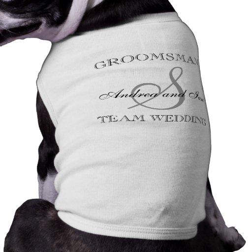 Camisa del perro del monograma del PADRINO DE BODA Camisetas Mascota
