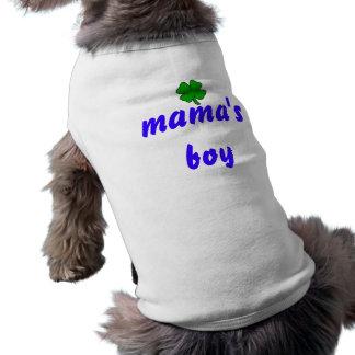 camisa del perro del muchacho de las mamáes ropa macota