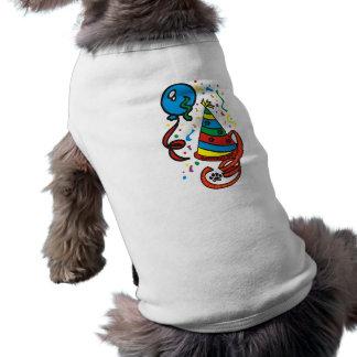 Camisa del perro del muchacho del cumpleaños de Pa Playera Sin Mangas Para Perro