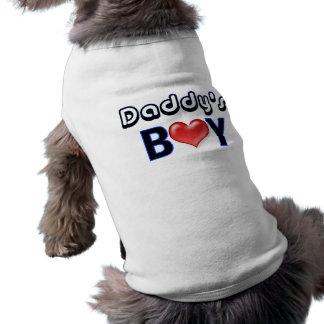 Camisa del perro del muchacho del papá camisa de mascota