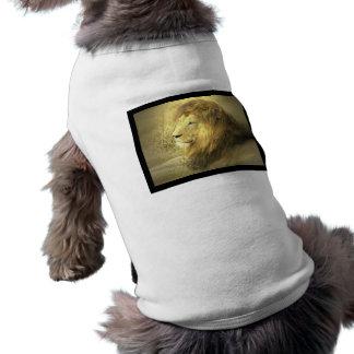 Camisa del perro del orgullo del león camisa de perrito