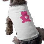 Camisa del perro del peluche del amor de las rosas ropa perro
