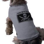 Camisa del perro del pirata camisas de mascota