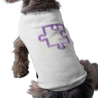 Camisa del perro del recorte del rompecabezas playera sin mangas para perro