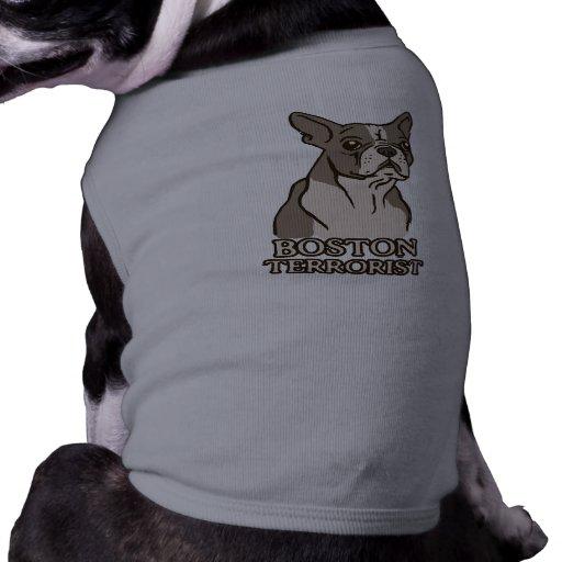 Camisa del perro del terrorista de Boston Playera Sin Mangas Para Perro