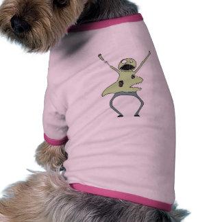 Camisa del perro del tiburón del zombi ropa perro