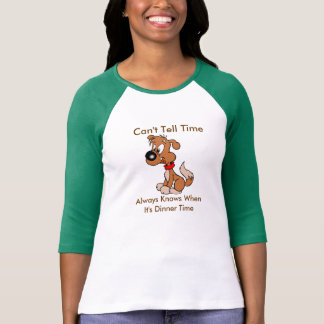 Camisa del perro del tiempo de la cena